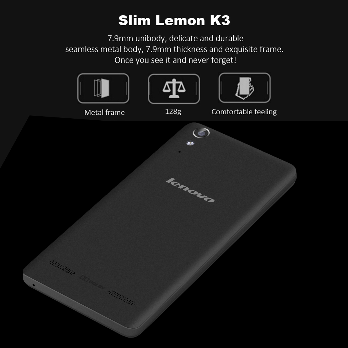 Lenovo LEMON K3 K30-W Android 4.4 Snapdragon MSM8916 Quad Cores 1.2GHz 5.0\\'\\' Multi-touch screen HD 1280*720 pixels RAM 1GB + ROM 16GB 8M (B camera) & 2M (F camera) 2300mAh GSM 900/1800/1900MHz W