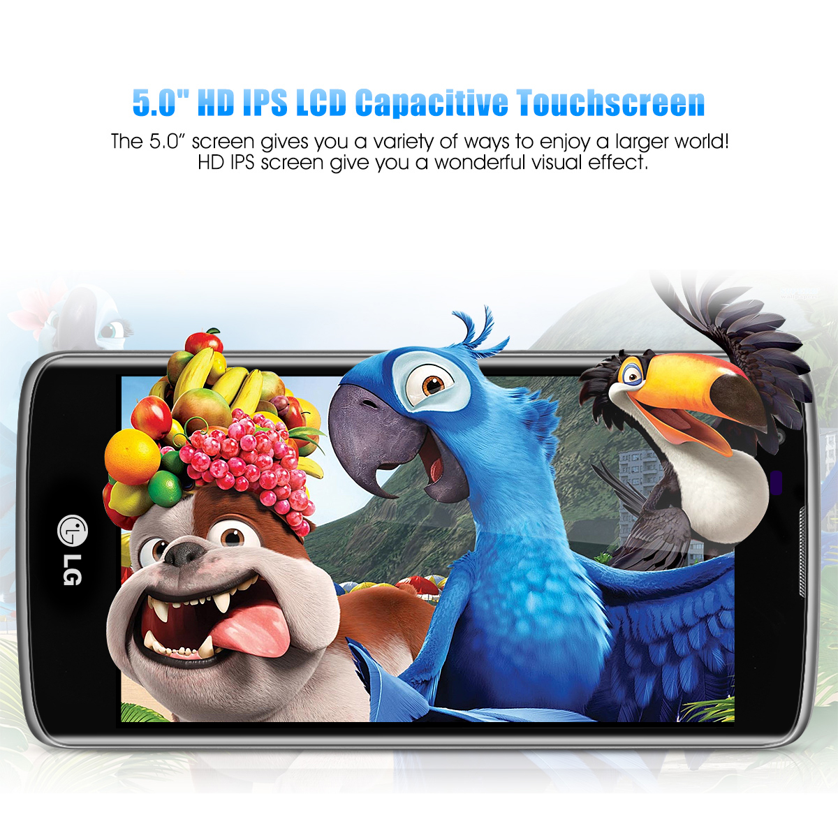 LG K8 4G 5.0 inch HD IPS LCD Capacitive Touchscreen Smartphone Android 6.0 Dual SIM Dual Standby Smart Phone 720 x 1280 Pixels