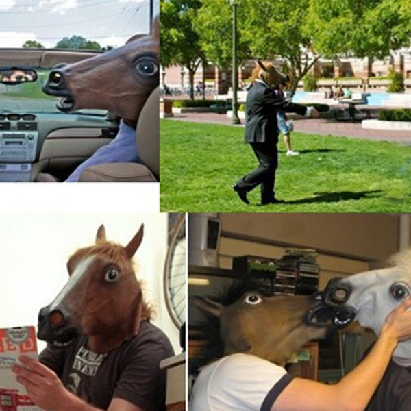 Cool Halloween Horse Mask Gangnam Style Cosplay Prop For Fancy Ball Party Show