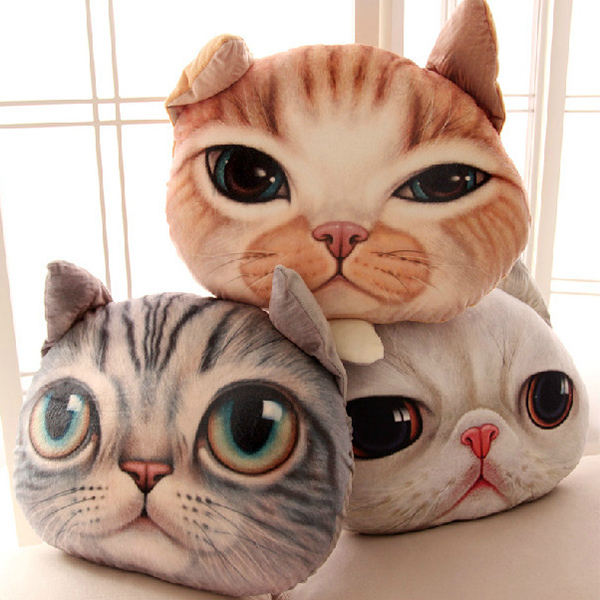 Cartoon 3D Cat Shape Design Home Decoration Detachable Washable Pillow