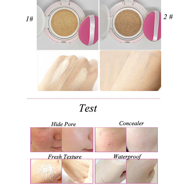 Stylish Anti UV Concealer Air Cushion BB Cream with Mirror and Puff