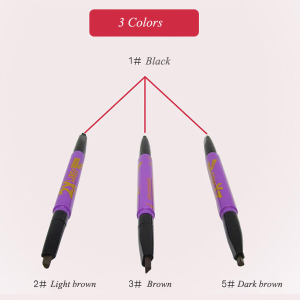 Stylish Double-End Waterproof Two-Tone Rotary Automatic Eyebrow Pencil