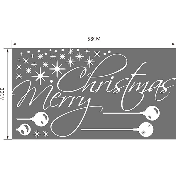 Merry Christmas Snowflake Removable Glass Window Wall Stickers
