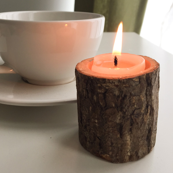 Creative Original Ecology Woody Candle Holder ( Without Candle )