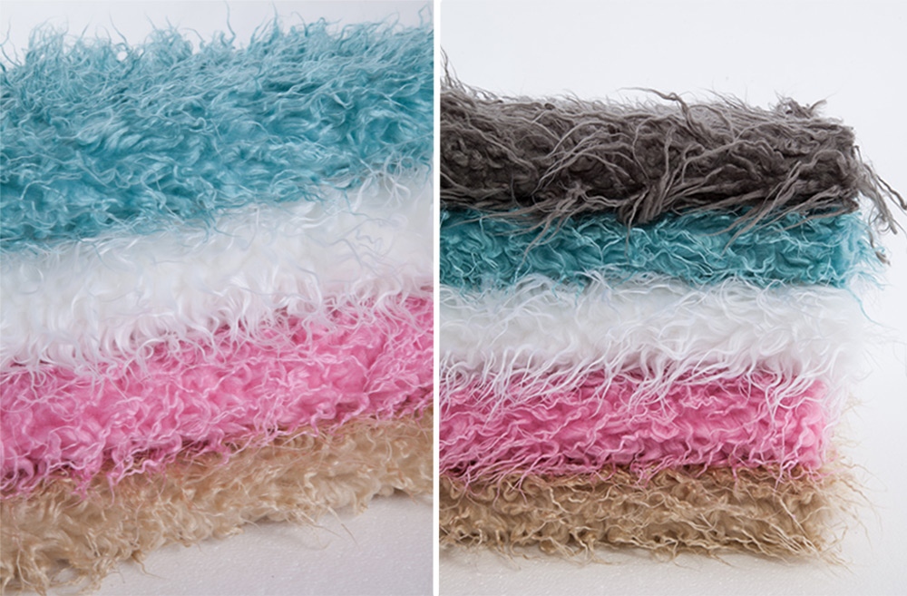 Soft Warm Solid Color Faux Fur Blanket Newborn Babies Photography Props