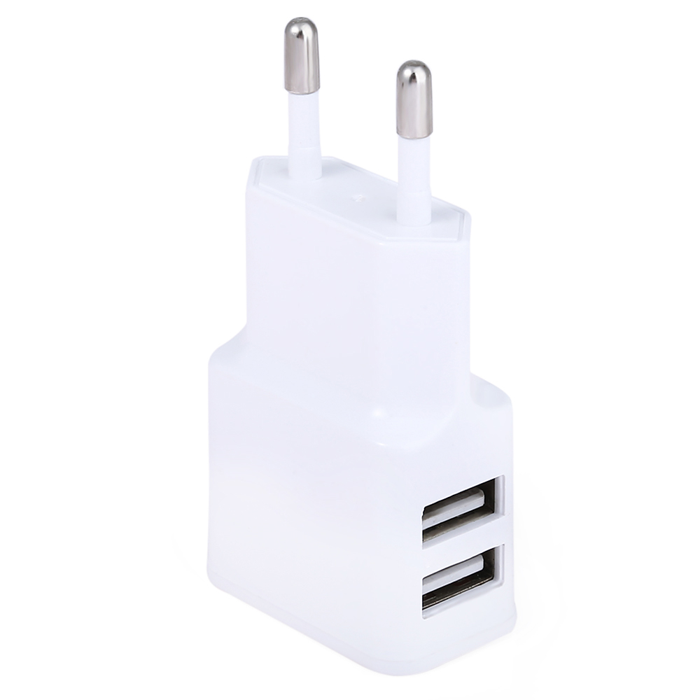 Wall Charger 2 USB Ports Charging Adapter for Travel Home EU Plug