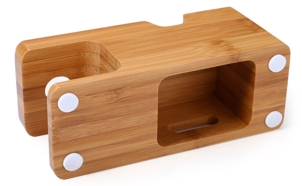 Wooden Charging Dock Station for Apple Watch Smart Phone
