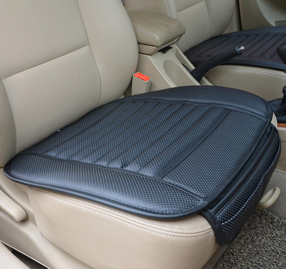 Four Seasons Leather Bamboo Charcoal Breathable Car Interior Seat Cushion Cover Pad