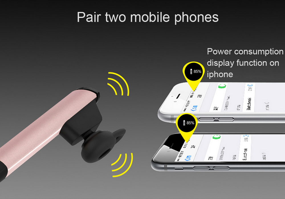 Awei A832BL Wireless Automatic Bluetooth V4.0 Car Phone Earphone