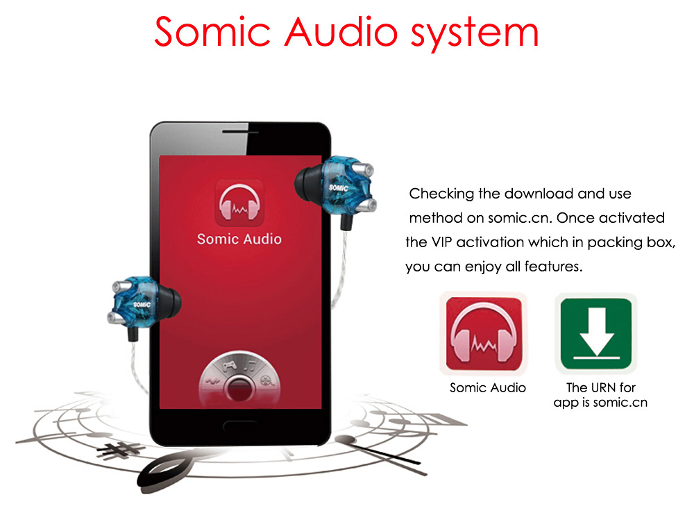 Somic V4 Double Moving-coil In-ear Earphones