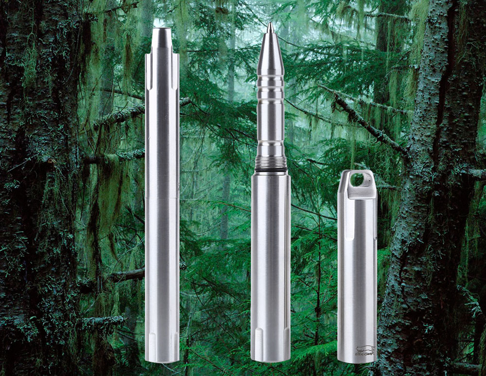 EDC Outdoor Diamagnetic 304 Stainless Steel Self Defence Pen Survival Equipment