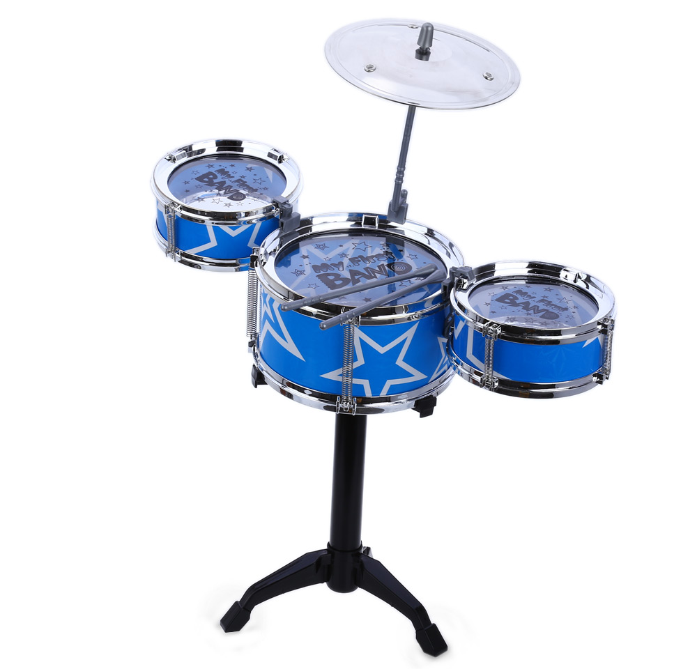 Jazz Rock Drums Set Kids Toy Musical Instrument Christmas Birthday Gift