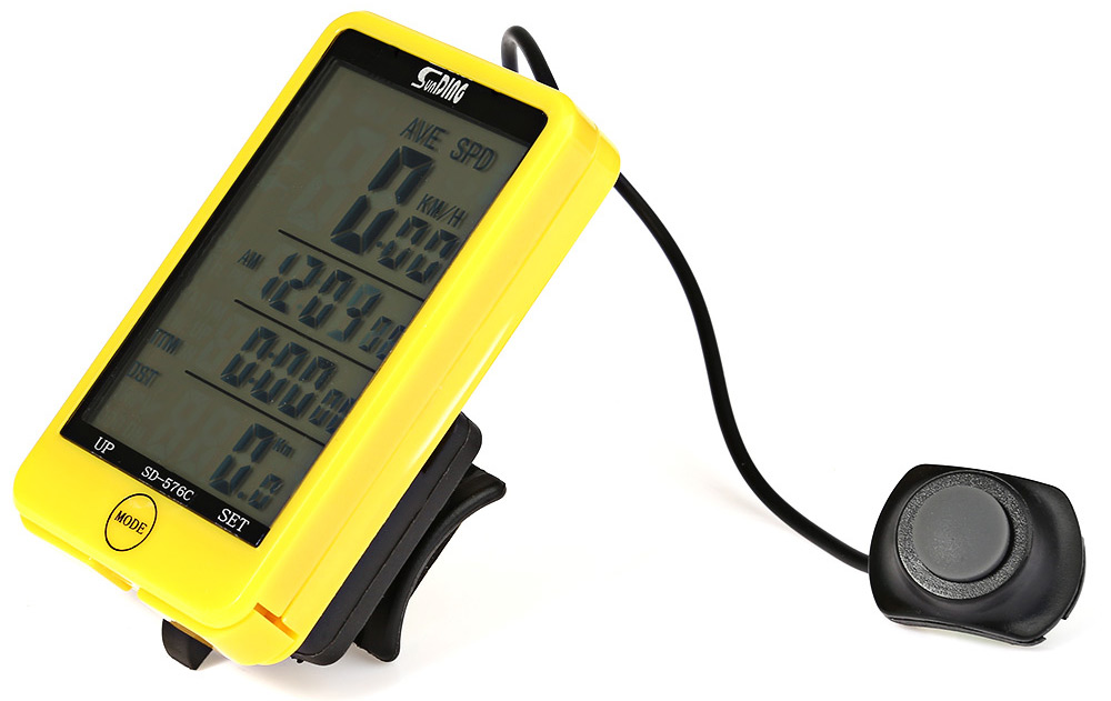 SunDing SD - 576C Water Resistant Touch Screen Wireless Bicycle Computer Odometer with LCD Backlight
