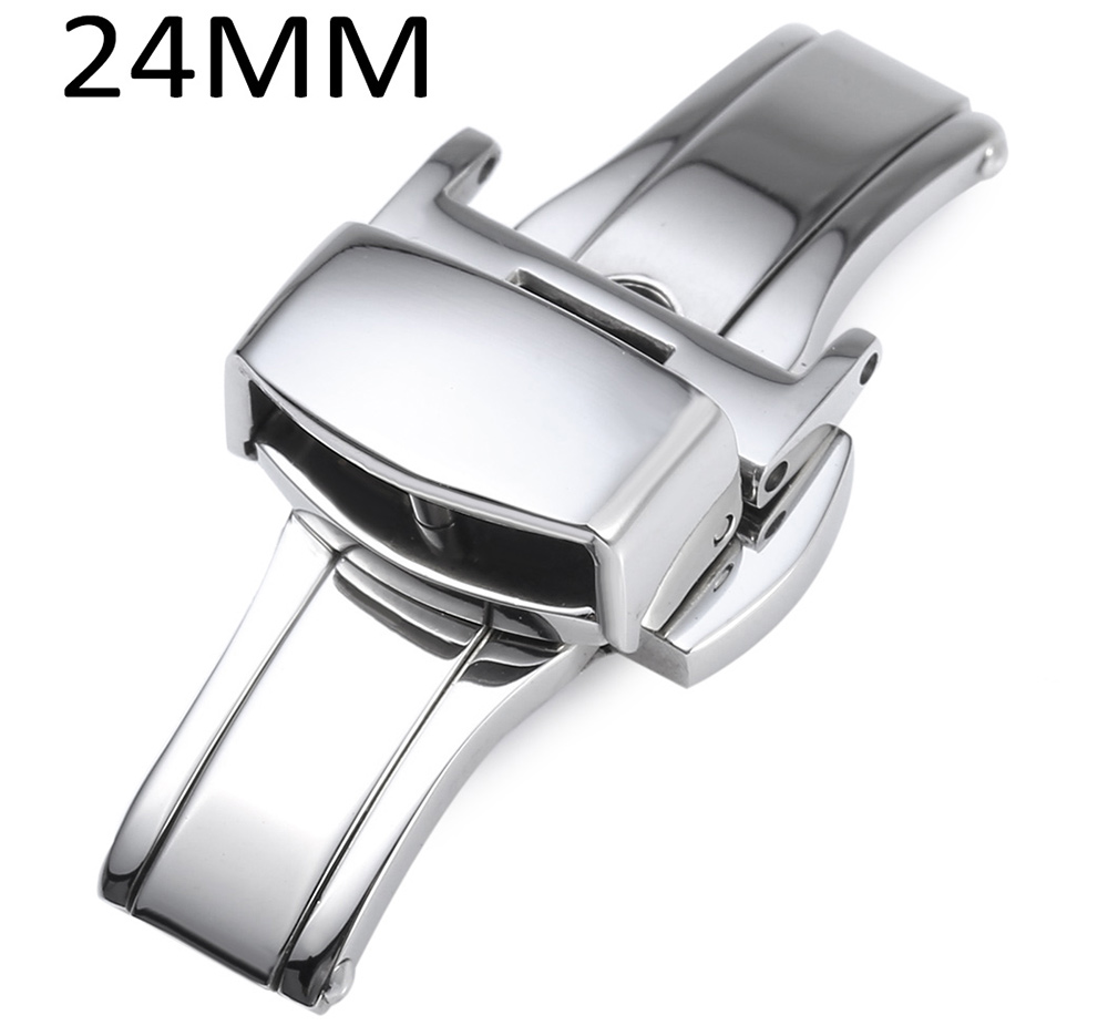 18MM Stainless Steel Watch Buckle Deployment Butterfly Clasp