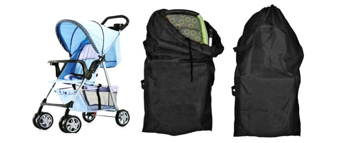 Portable Black Babies Stroller Travel Bag Buggy Cover Case