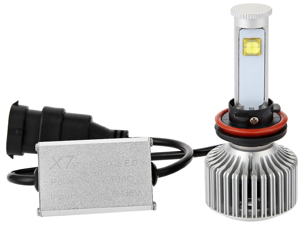 H11 - A 6000K X7 LED Headlight Bulbs All-in-one Conversion Kit
