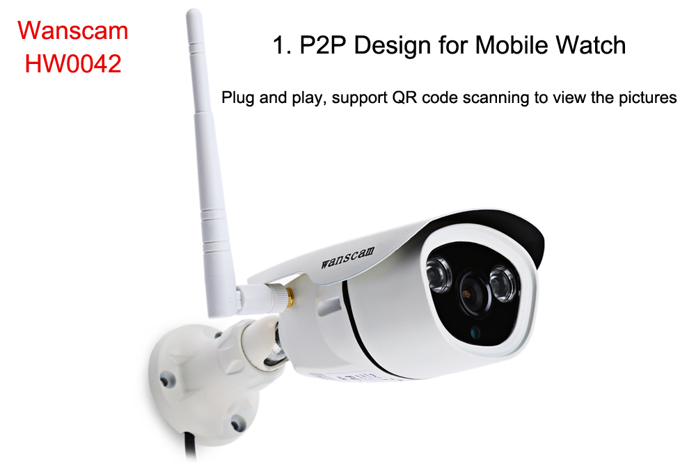 Wanscam HW0042 HD 1.3MP IR-CUT P2P Outdoor Wireless IP Camera with Night Vision