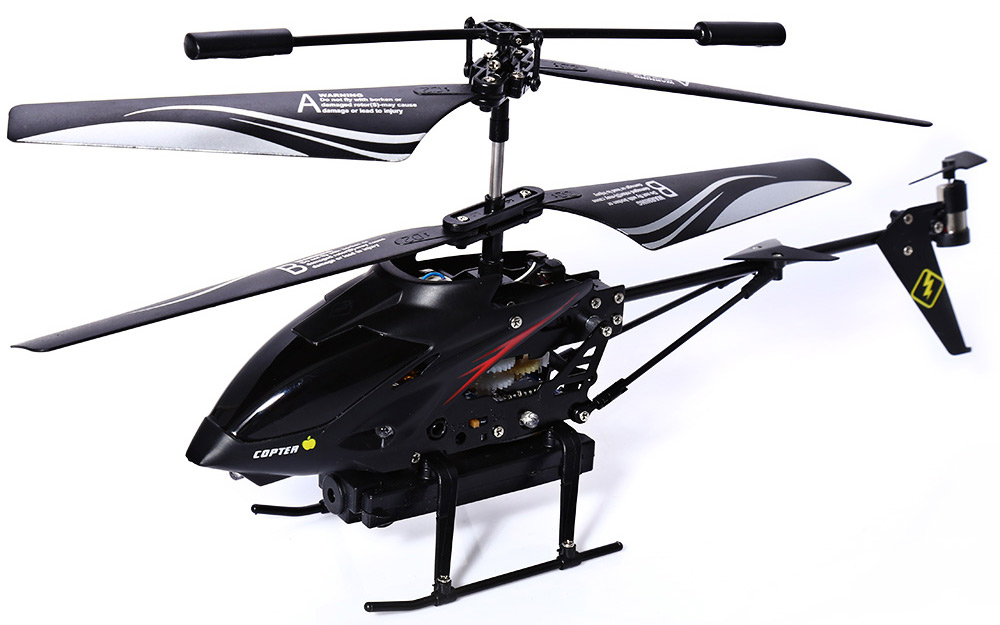 S977 3.5CH Metal Radio Gyro RC Helicopter with Video Camera Reviews Toy