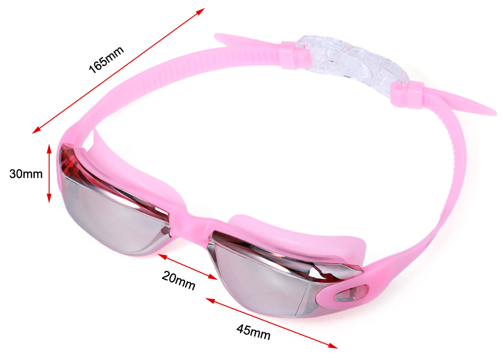 MYSTYLE Coating Mirrored Sportswear Water Resistance  Unisex Swimming Goggles