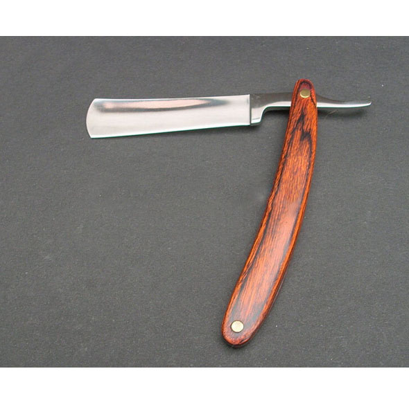 Wood Handle Straight Edge Stainless Steel Barber Razor Folding Shave Knife