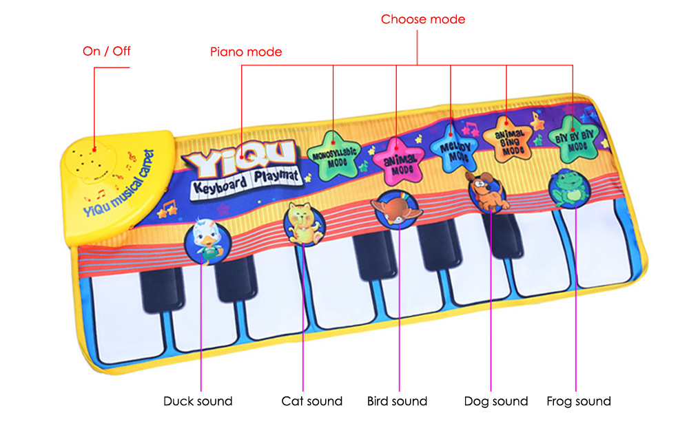 Kid Piano Music Game Touch Type Electronic Mat Play Crawling Toy