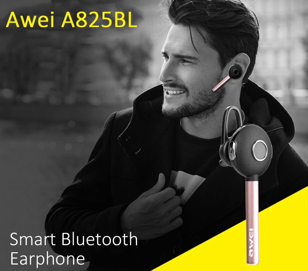 Awei A825BL Wireless Bluetooth 4.0 Business Earphone Noise Isolation with Build-in Microphone