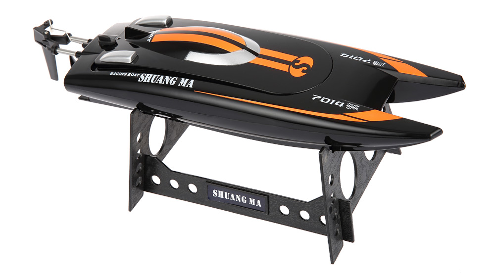Shuang Ma 7014 2.4GHz 3CH Electric RC Waterproof Racing Boat with Display Rack RTR Version
