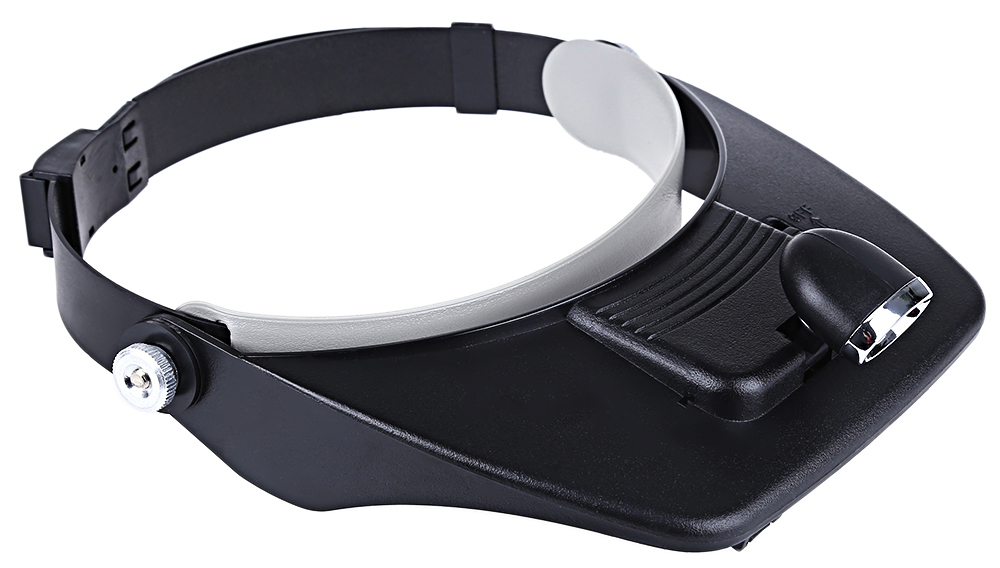 Head-worn Lighted Magnifier with LED Lamp 3D Lens