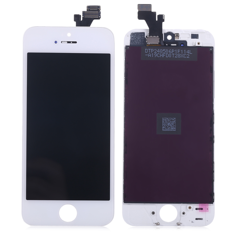 Replacement LCD Screen Assembly + Touch Glass Digitizer Phone Repair Tool Set for iPhone 5