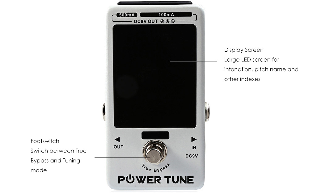 JF - 18R Power Tune True Bypass Electric Tuner 8 Port Multi-power Power Supply