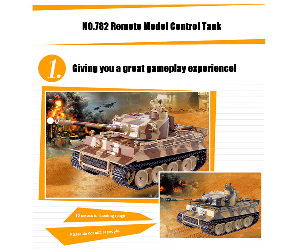 NO.782 Remote Control Tank Shooting BB Bullets Emulation Panzer Toy