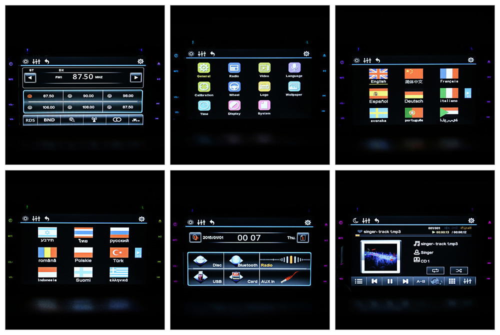 262 6.2 inch Bluetooth V3.0 Auto Radio Double Din 32GB Car DVD Player In-dash Stereo Video Mic