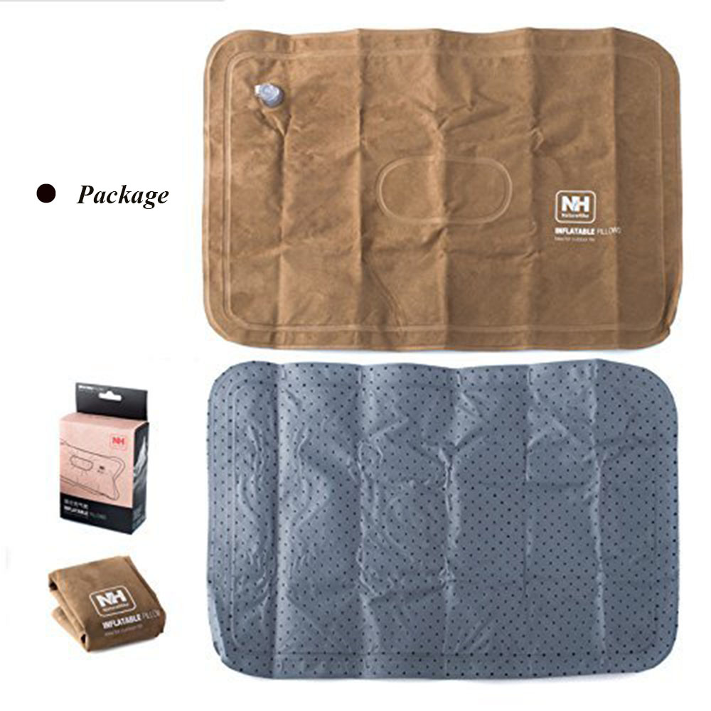 Naturehike Suede Fabric Outdoor Air Inflation Foldable Hiking Traveling Pillow