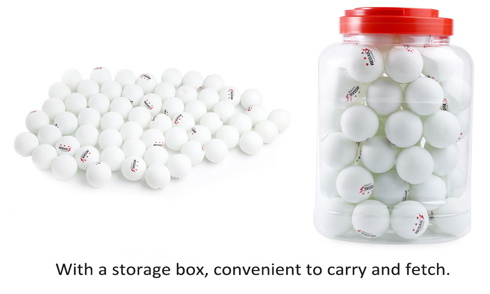 REGAIL 60 Counts 3-star Practice Table Tennis Ping Pong Ball for Advanced Training