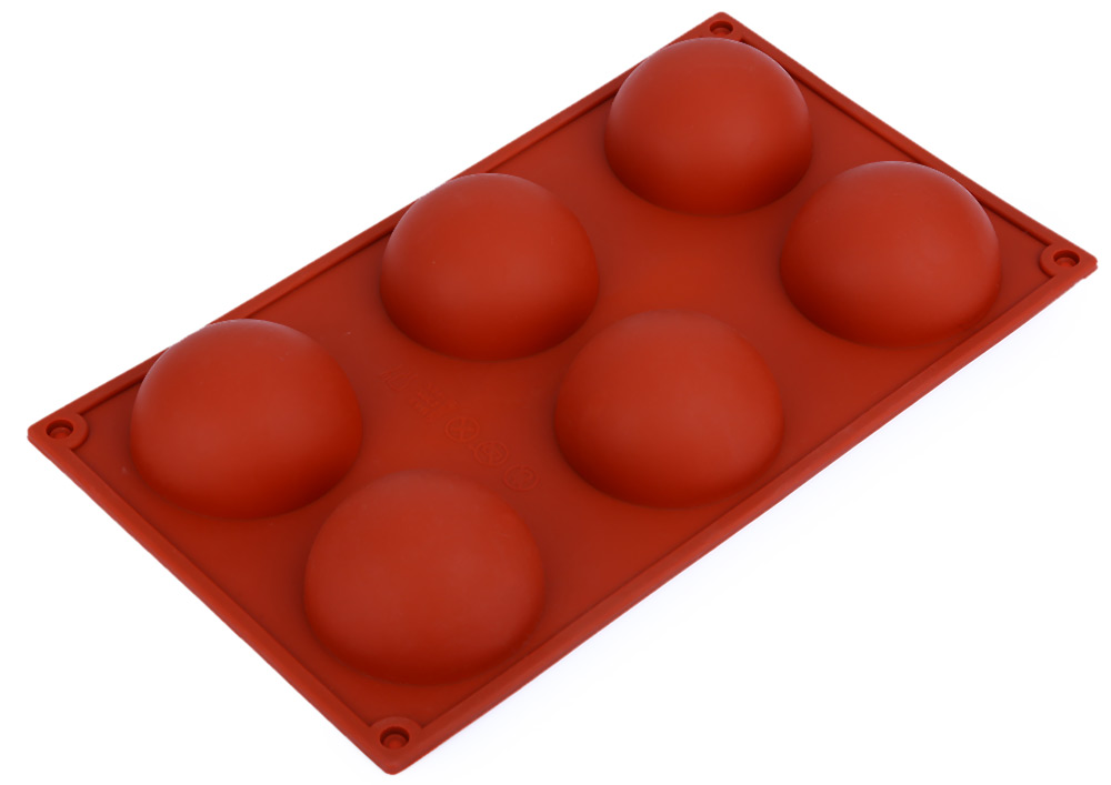 6 Even Domed DIY Silicone Cake Soap Jelly Pudding Chocolate Mold