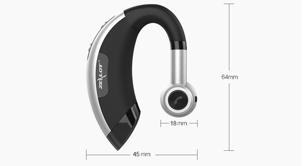 ZEALOT E1 Wireless In-ear Headset Bluetooth V4.0 with Microphone