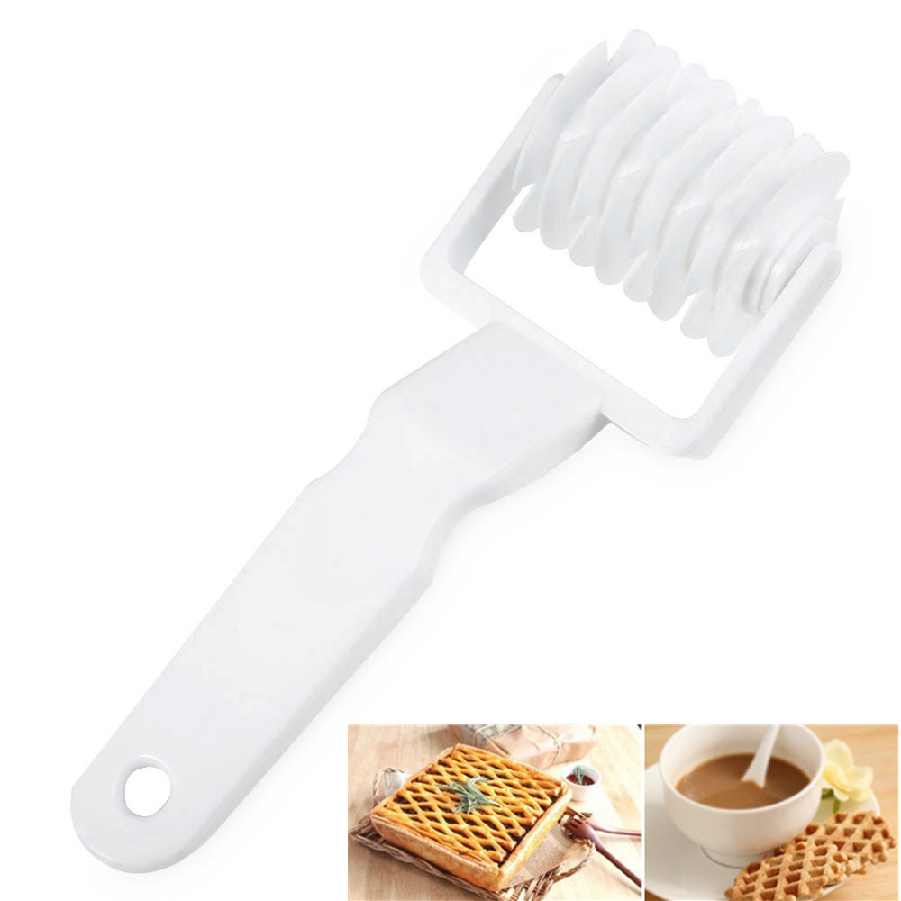 Plastic Baking Lattice Roller Cutter Cookie Pie Pizza Pastry Kitchen Tool