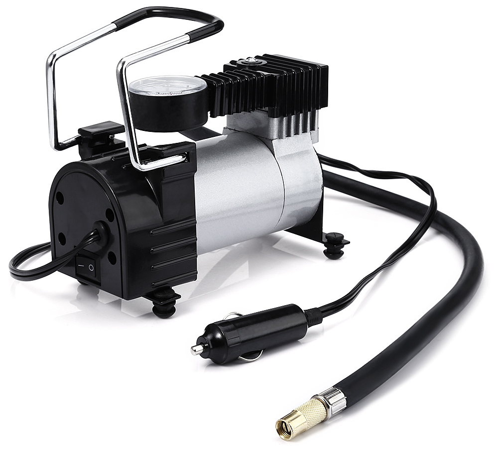 12V Car Inflatable Mini Tire Pump Electric Air Compressor with Tyre Pressure Monitor