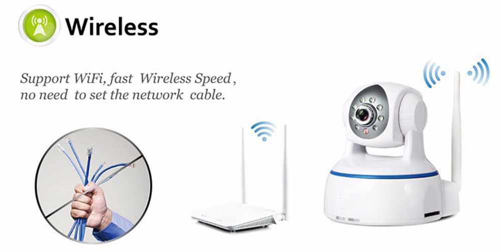 624GA 1080P 4.2MM Wireless Night Vision IP Indoor Security Camera with Two-Way Audio