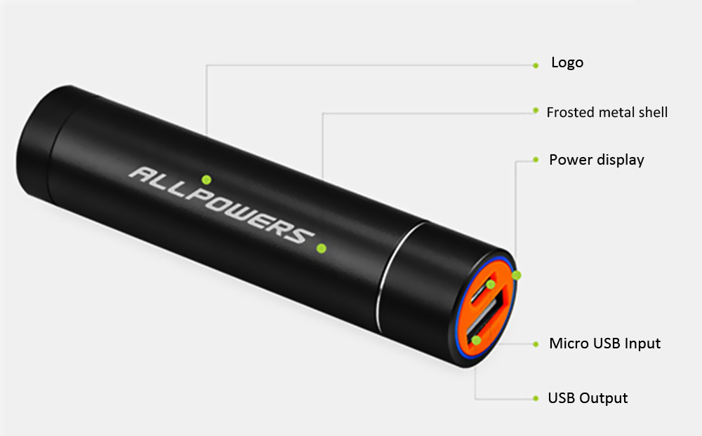 ALLPOWERS 3400mAh Portable Universal Power Bank