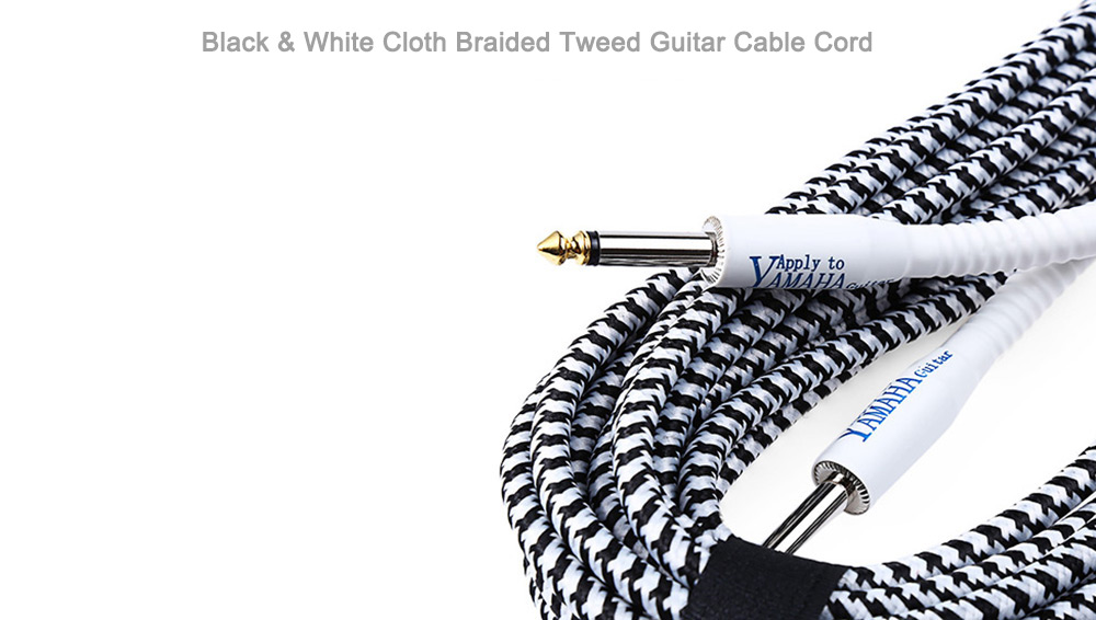 3M Tweed Woven Guitar Cable Cord Musical Instrument Part Accessory