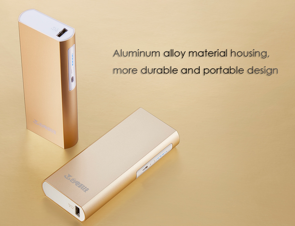 Origianl Teclast T100CB Ultra Slim 10000mAh Dual 2.1A USB Ports Mobile Power Bank Charger