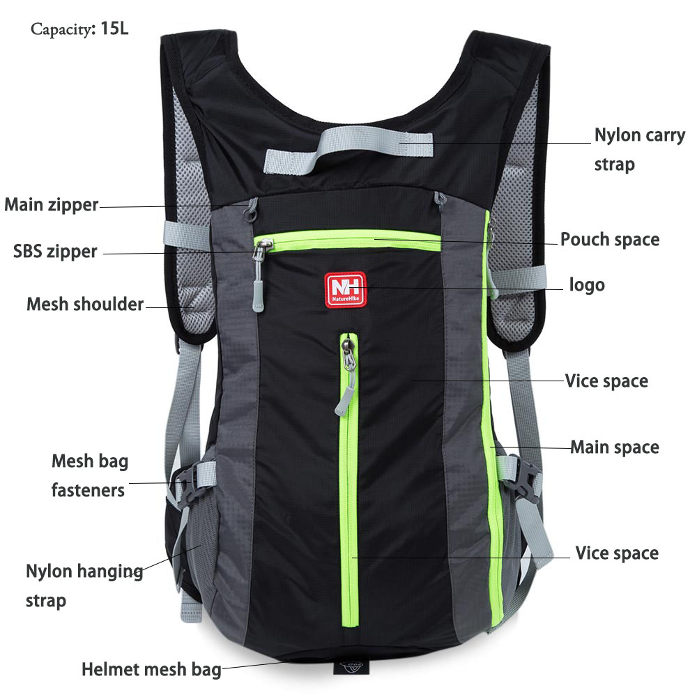 Outdoor Backpack for Camping Hiking Traveling Climbing Running Cycling Sports