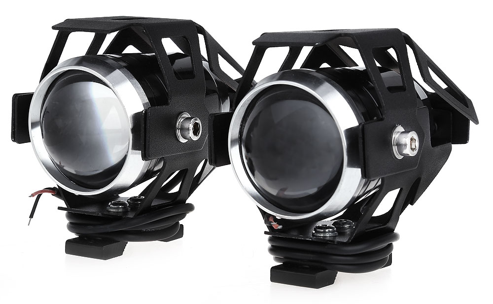 2pcs U5 3000LM 125W Upper Low Motorcycle Headlight LED Motorbike Fog Lamp Spot Light