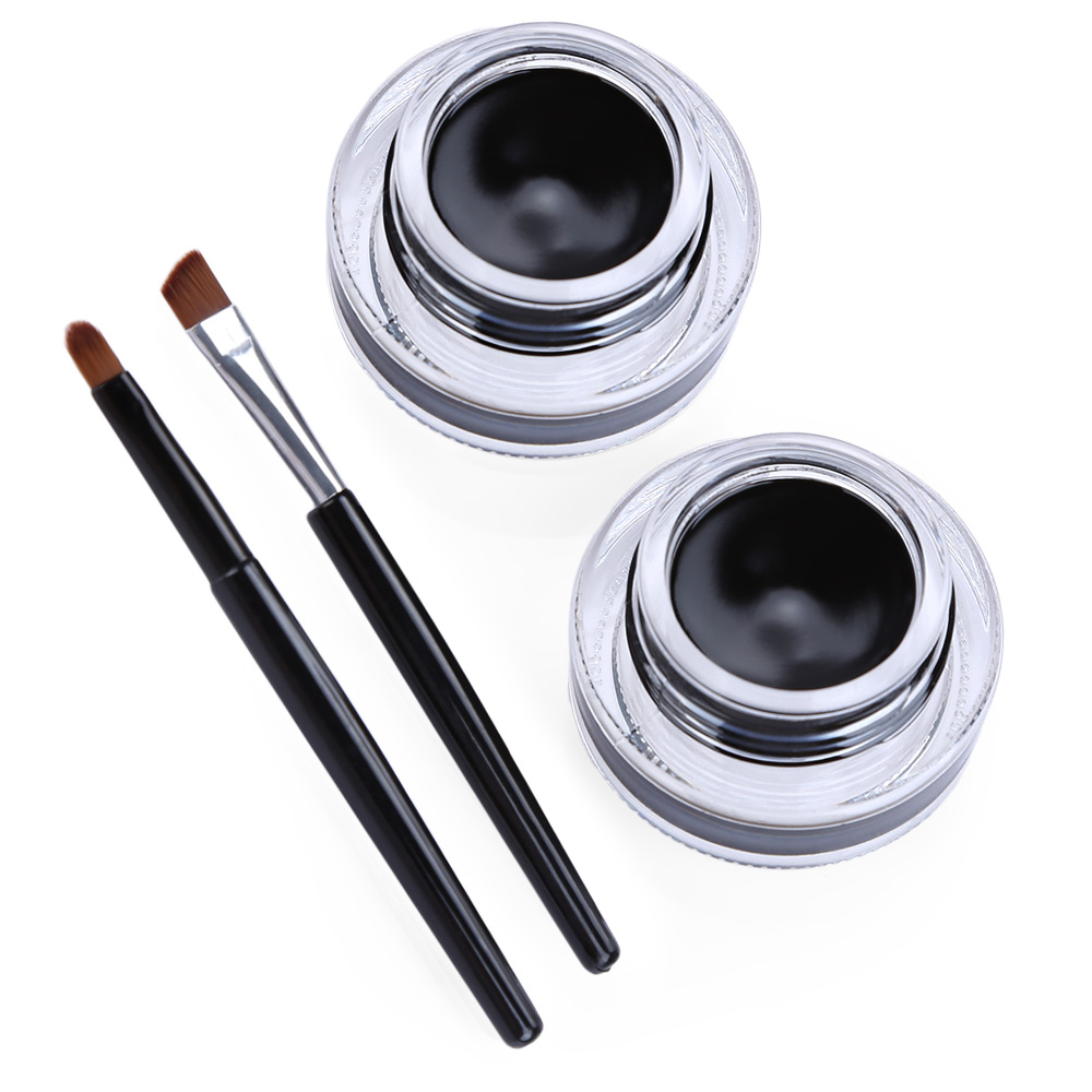 Black Beauty Cosmetic Waterproof Eye Liner Gel Makeup Brush