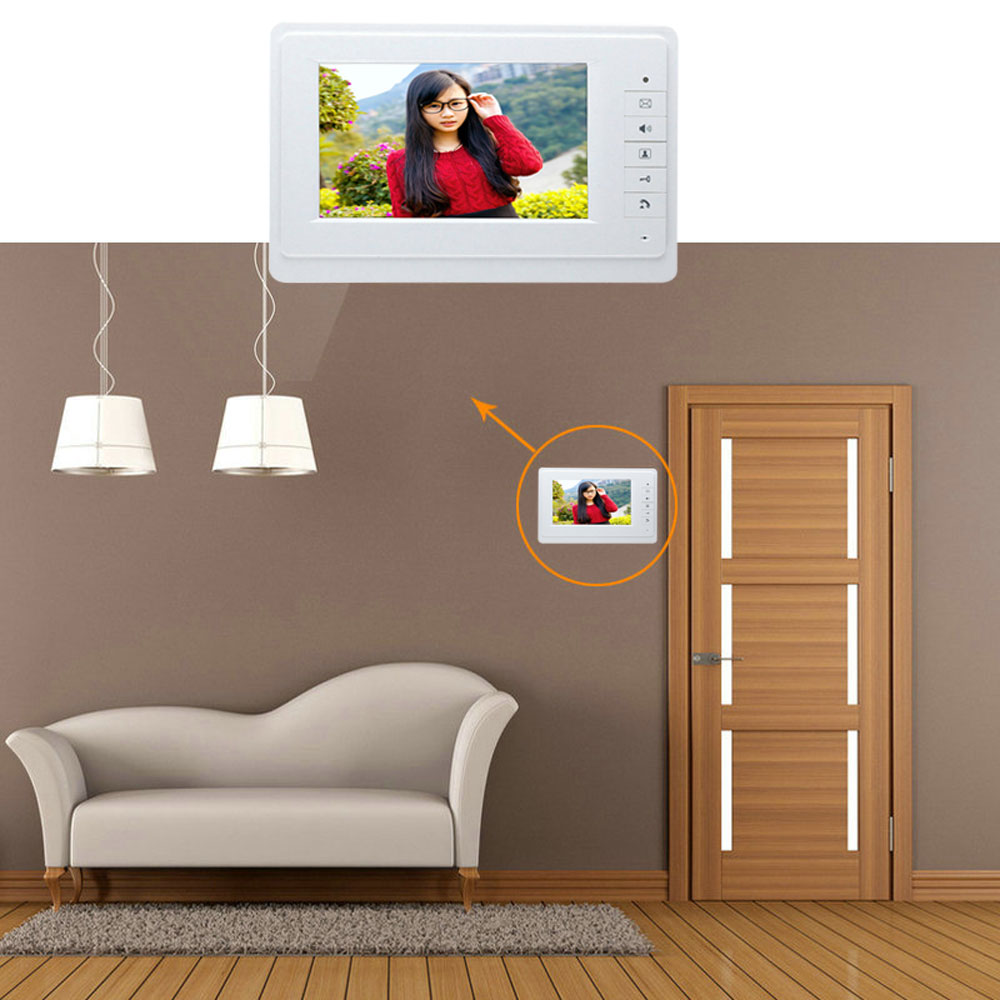 SY819FC11 7 Inches HD Doorbell Camera Video Intercom Door Phone System with Monitor