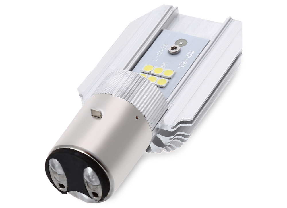 1200LM 6000K 12W Motorcycle LED Headlight Bulb DC 9 - 80V High / Low Beam Plug and Play
