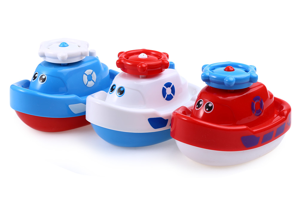 Baby Rotary Automatic Sprinkler Boat Bath Toys