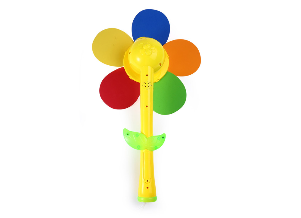 Sunflower Rotation Bubble Windmill Toy with Smile Face
