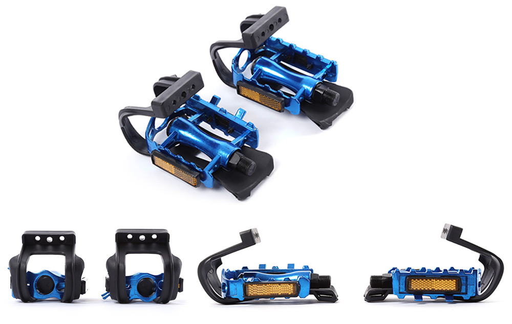 Gear Bike Bicycle Fixed Pedal Toe Straps Binding Belt Foot Clip